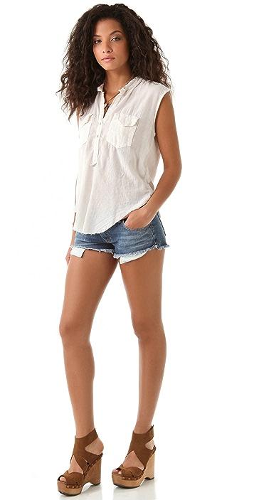 Raquel Allegra Veil Patch Pocket Shirt