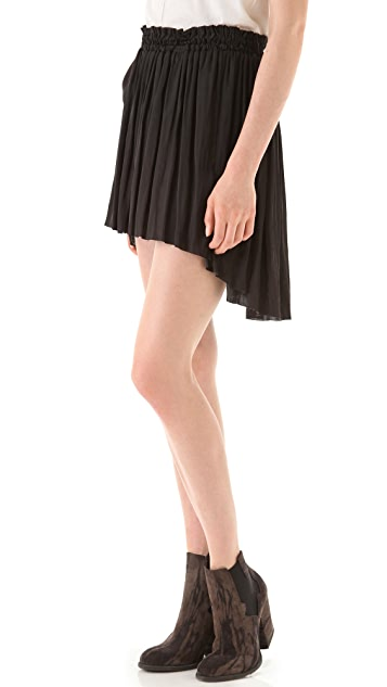 Raquel Allegra Liquid Satin Shirred Skirt