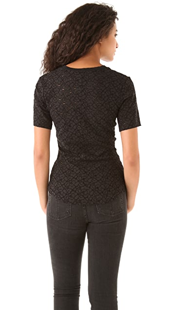 Raquel Allegra Lace Fitted Tee