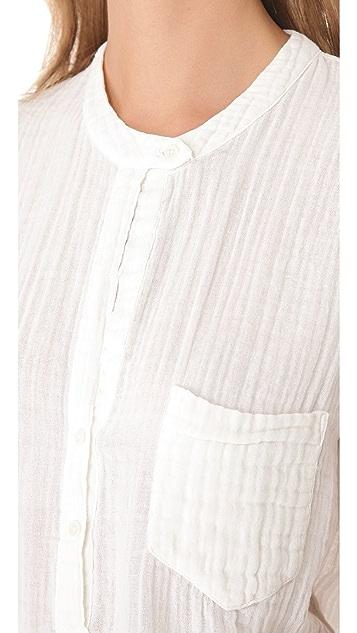 Raquel Allegra Sleeveless Patch Pocket Top
