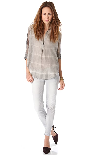 Raquel Allegra Long Sleeve Blouse