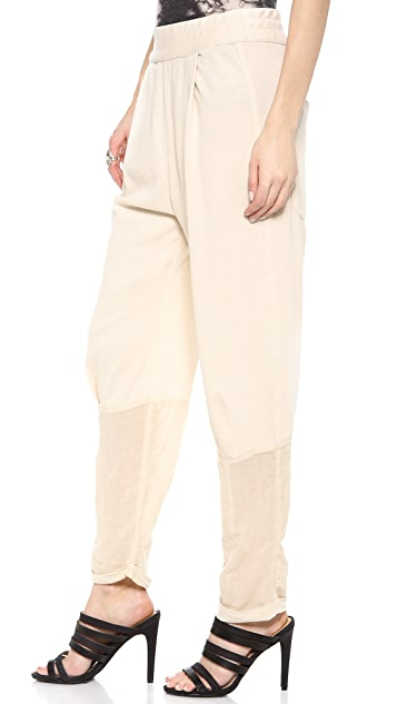 Raquel Allegra Gauze & Jersey Jodhpur Pants