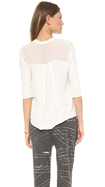 Raquel Allegra Short Sleeve Patch Pocket Shirt