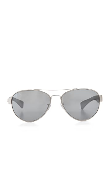 Ray-Ban Mirrored Aviator Sunglasses