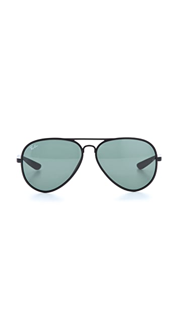 Ray-Ban Matte Aviator Sunglasses