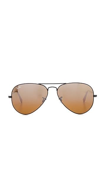 Ray-Ban Matte Classic Aviator Sunglasses