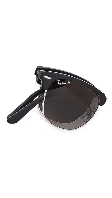 Ray-Ban Clubmaster Folding Polarized Sunglasses
