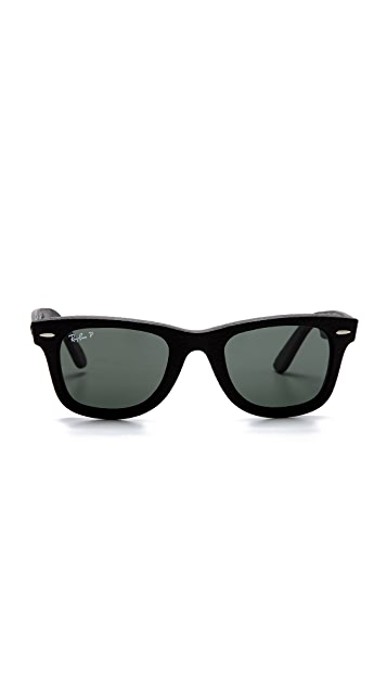 Ray-Ban Polar Leather Wayfarer Sunglasses