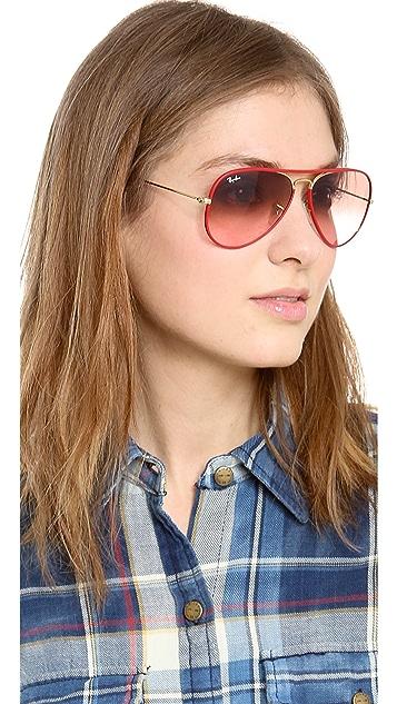Ray-Ban Acetate Covered Aviator Sunglasses