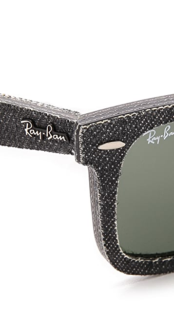 Ray-Ban Pressed Denim Wayfarer Sunglasses
