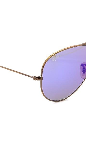 Ray-Ban Flash Lens Aviator Sunglasses
