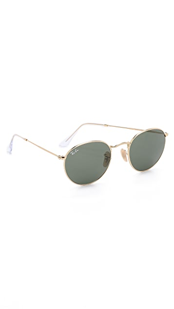 1ea6a7e1dfc91 Ray-Ban Round Metal Sunglasses
