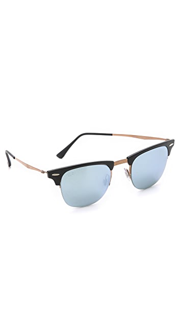 Ray-Ban Lightweight Clubmaster Sunglasses with Flash Lens