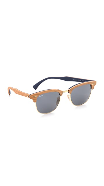 5db340f7bed7 Ray-Ban Clubmaster Wood Sunglasses