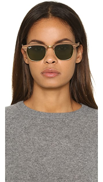 491f8f832a6c0 ... Ray-Ban Clubmaster Wood Sunglasses ...
