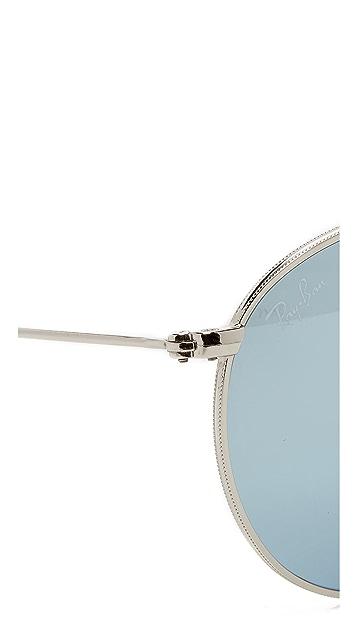 Ray-Ban Icons Mirrored Round Sunglasses