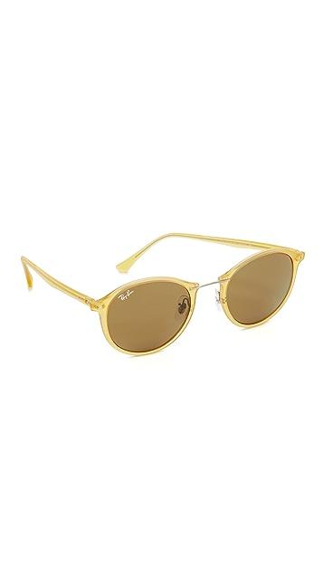 b84709ae4 Ray-Ban Tech Light Ray Round Sunglasses | SHOPBOP