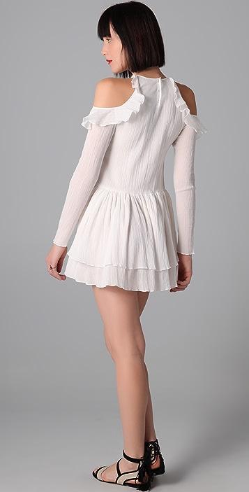 Richard Chai Love Long Sleeve Flounce Dress