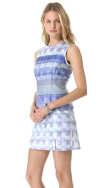Richard Chai Love Digital Stripe Sleeveless Dress