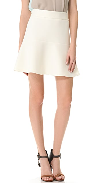 Richard Chai Love Neoprene Flounce Mini Skirt