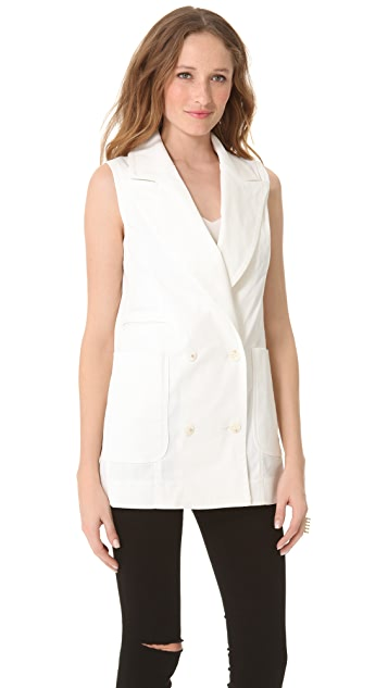Richard Chai Love Vest with Patch Pockets