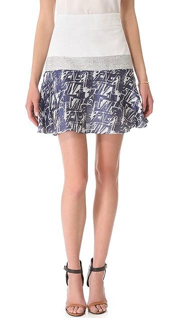 Richard Chai Love Flounce Miniskirt