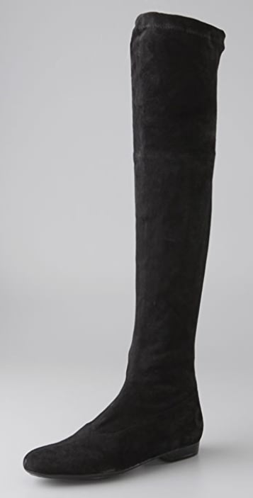 00d2dfe4db6 Robert Clergerie Fissaw Over the Knee Boots with Stretch Shaft