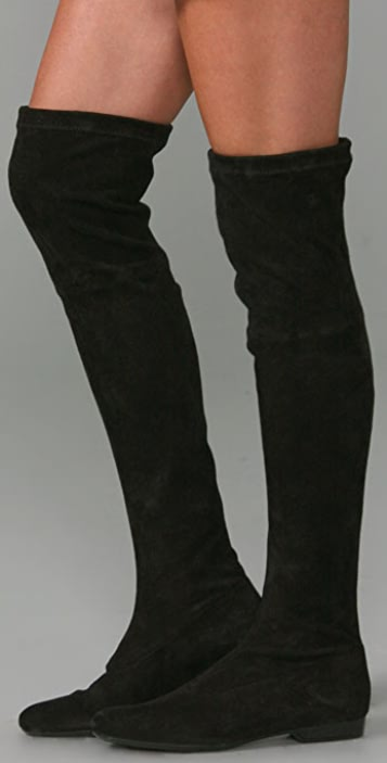 Robert Clergerie Suede Over-The-Knee Boots from china online sale official site cheap shop zxyYeOP4y