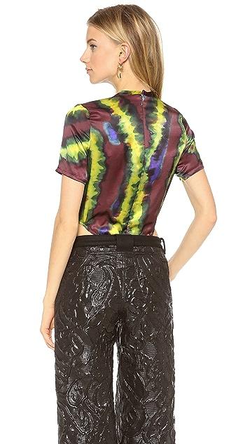Rodarte Silk Tie Dye Bodysuit