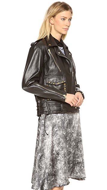 Rodarte Studded Leather Jacket