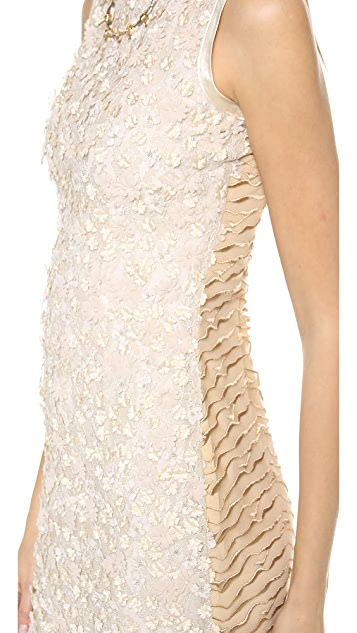 Rodarte Floral Beaded Dress