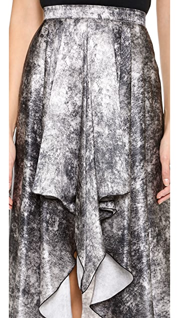 Rodarte Printed Acid Wash Skirt