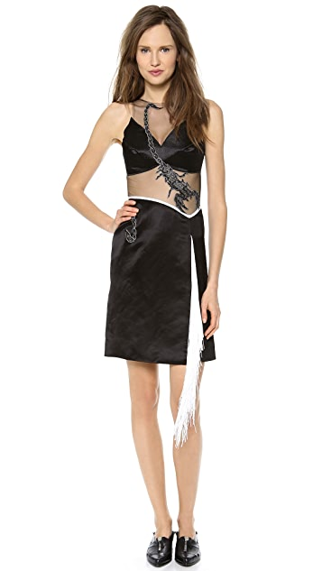 Rodarte Embroidered Scorpion Dress