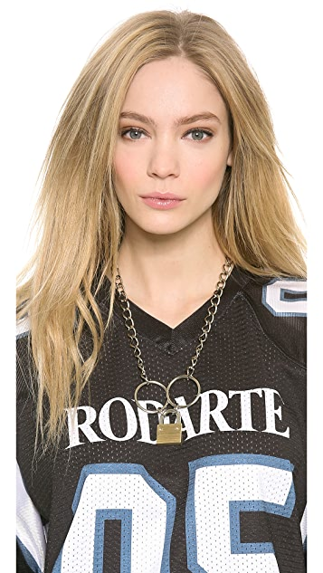 Rodarte Padlock Chain Necklace