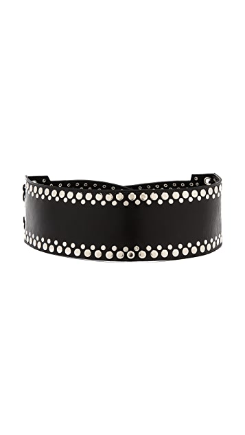 Rodarte Studded Leather Belt