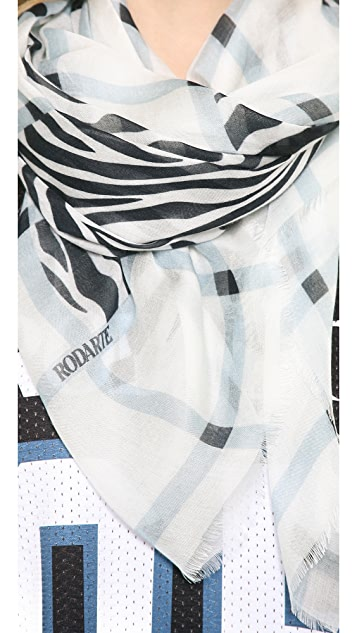 Rodarte Plaid and Zebra Scarf
