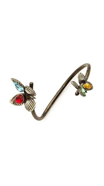Rodarte Butterfly Bracelet with Swarovski Crystals