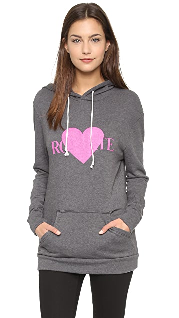 Rodarte Rohearte Hoodie with Pink Heart