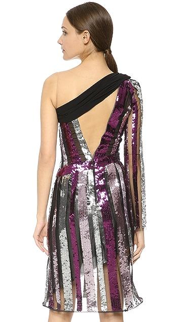 Rodarte Sequin One Shoulder Dress