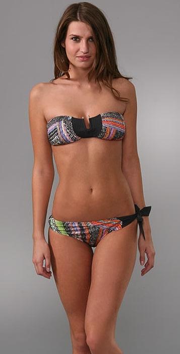 Red Carter Marley Bikini Top