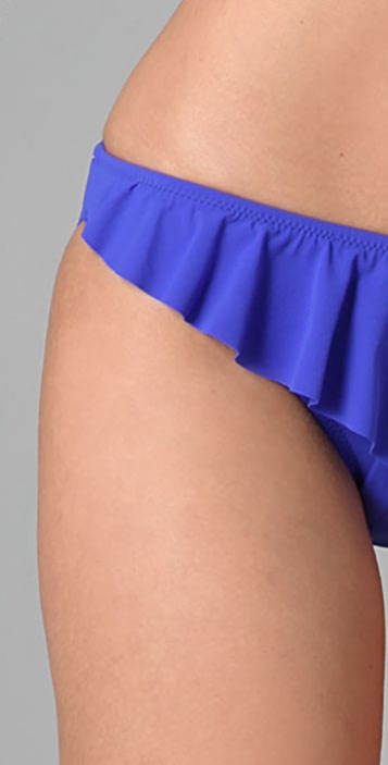 Red Carter Ruffle Bikini Bottoms