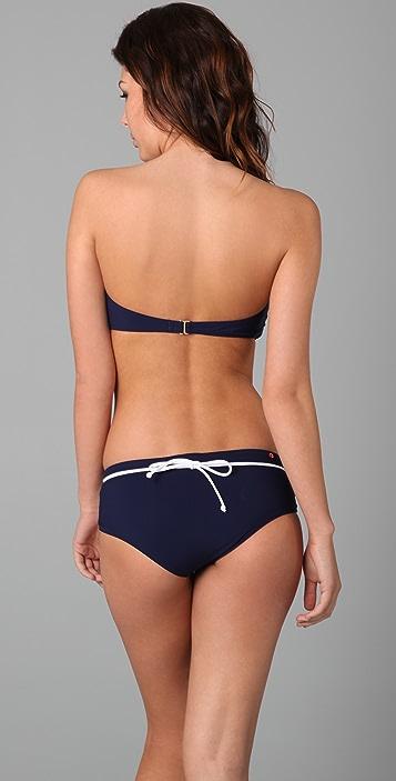 Red Carter Catalina Bikini Top