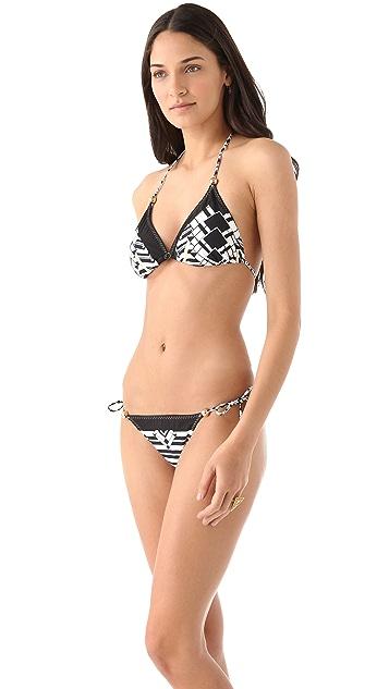 Red Carter Deco Triangle Bikini Top