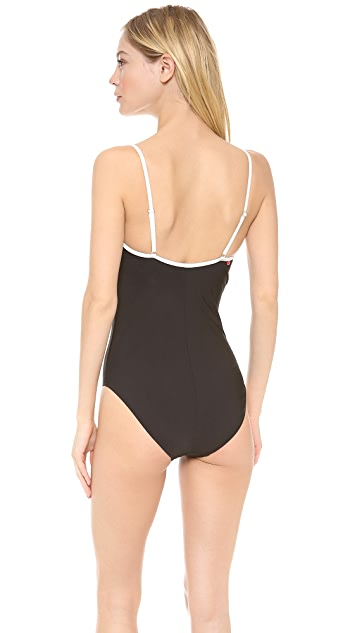Red Carter I Dream of Ginie One Piece Swimsuit