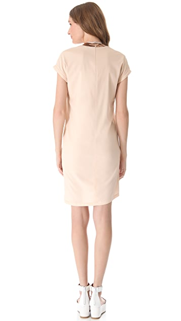 RDM by Rue du Mail Metallic Collar Dress