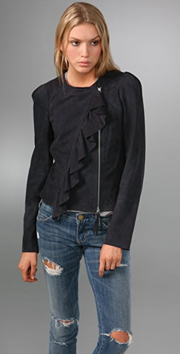 Rebecca Taylor New Wave Suede Jacket