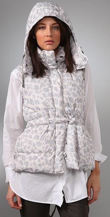 Rebecca Taylor Leopard Printed Puffa Vest