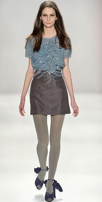 Rebecca Taylor Later Gator Skirt