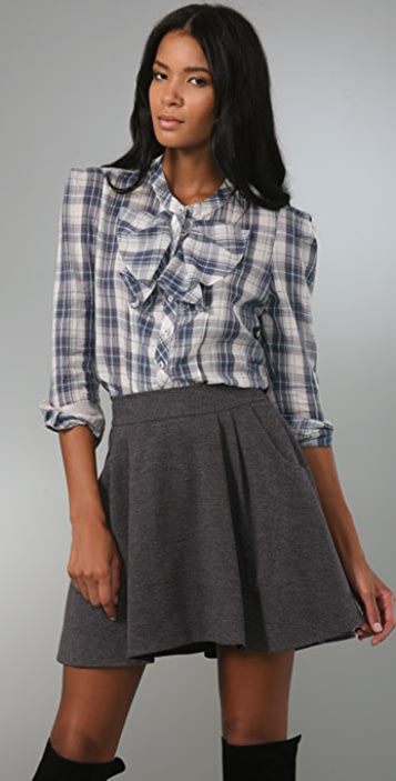 Rebecca Taylor Not So Basic Plaid Top