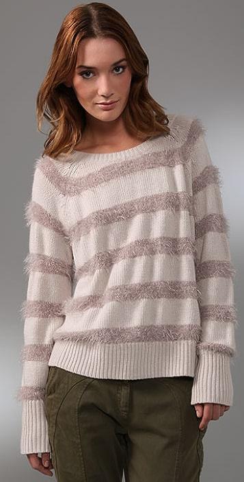 Rebecca Taylor Sparkle & Stripes Sweater